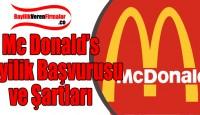 Mc Donald's Bayilik Başvurusu ve Şartları