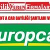 Europcar Rent a Car Bayiliği Şartları ve Başvurusu